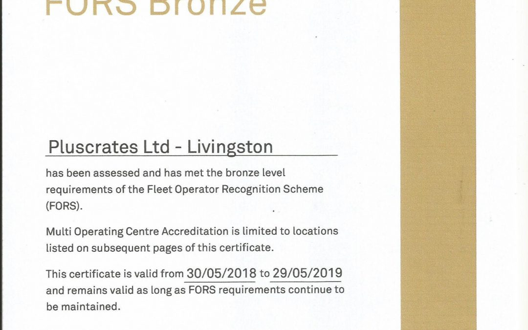 Scotland depot achieves FORS Bronze accreditation