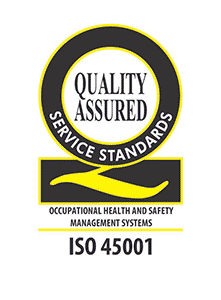 ISO 45001 - Occupational Health and Safety Management Systems - Quality Assured Service standards logo