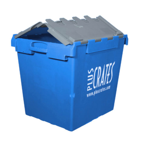 IT6 - 165L heavy-duty plastic IT computer crate